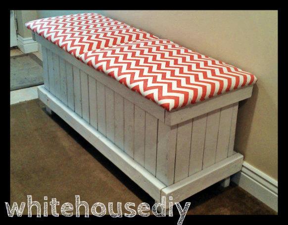 Ana White | Chevron Shoe Bench - DIY Projects