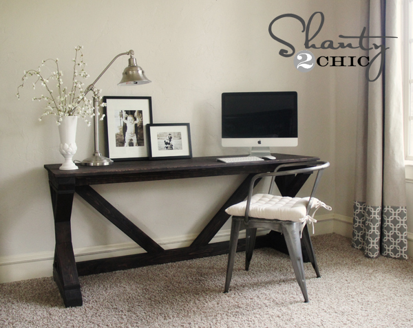 Ana White | Build a $55 Fancy X Desk | Free and Easy DIY Project and ...