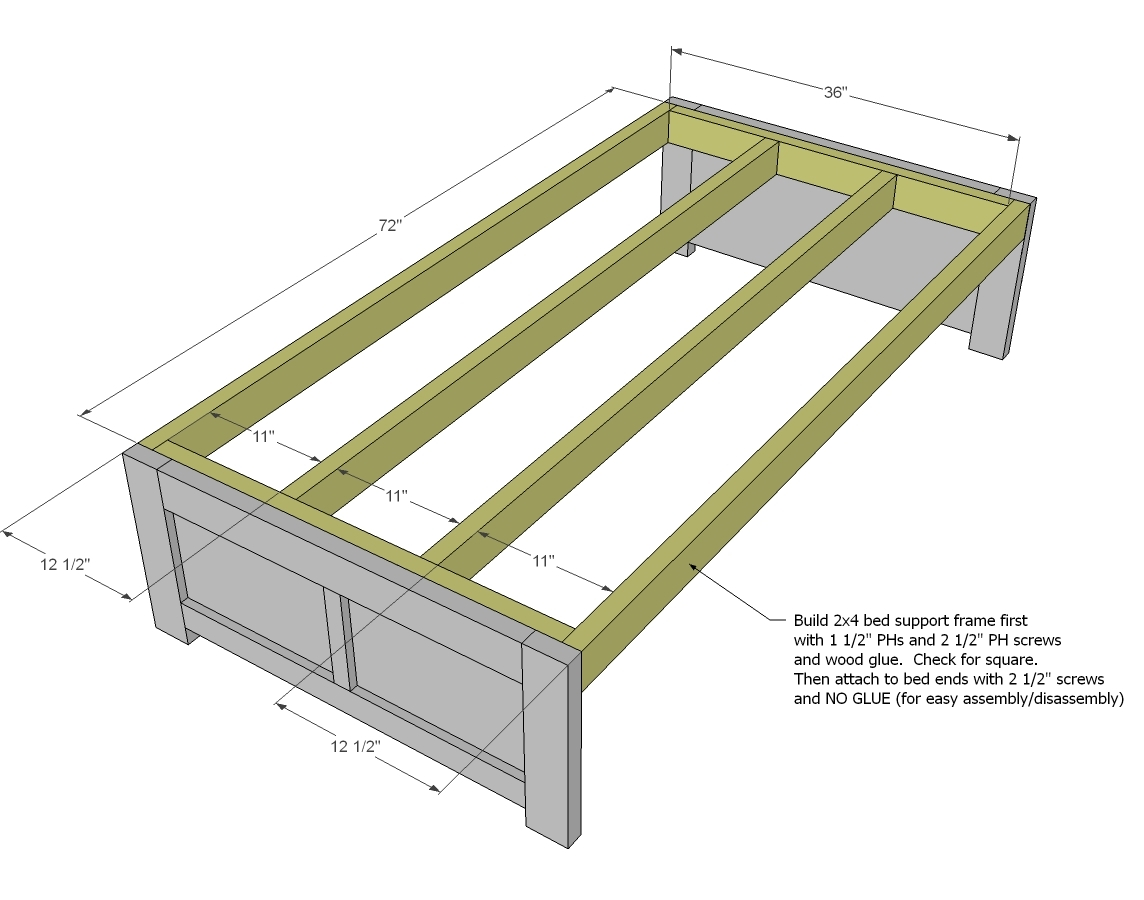 Bed frames with storage plans - Bed Frames With Storage Plans 39