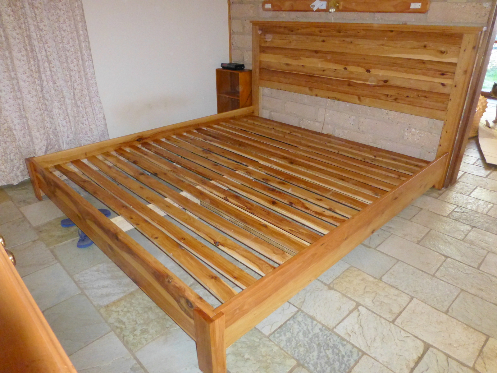 King Size Bed With Reclaimed Headboard