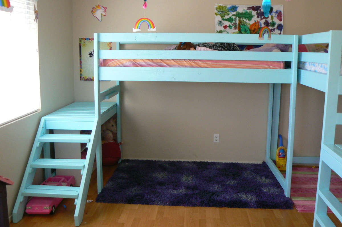Ana white two camp loft beds diy projects Loft bed plans