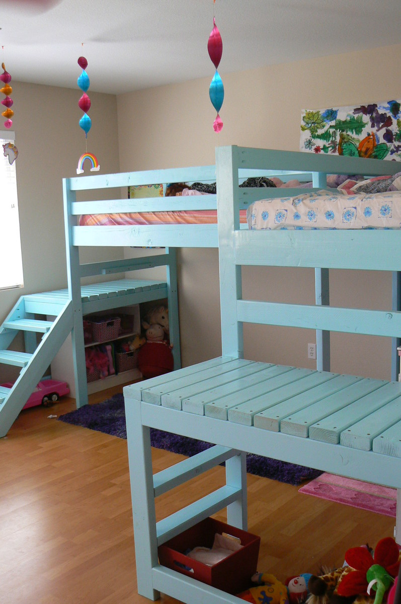 ana white  two camp loft beds  diy projects - two camp loft beds