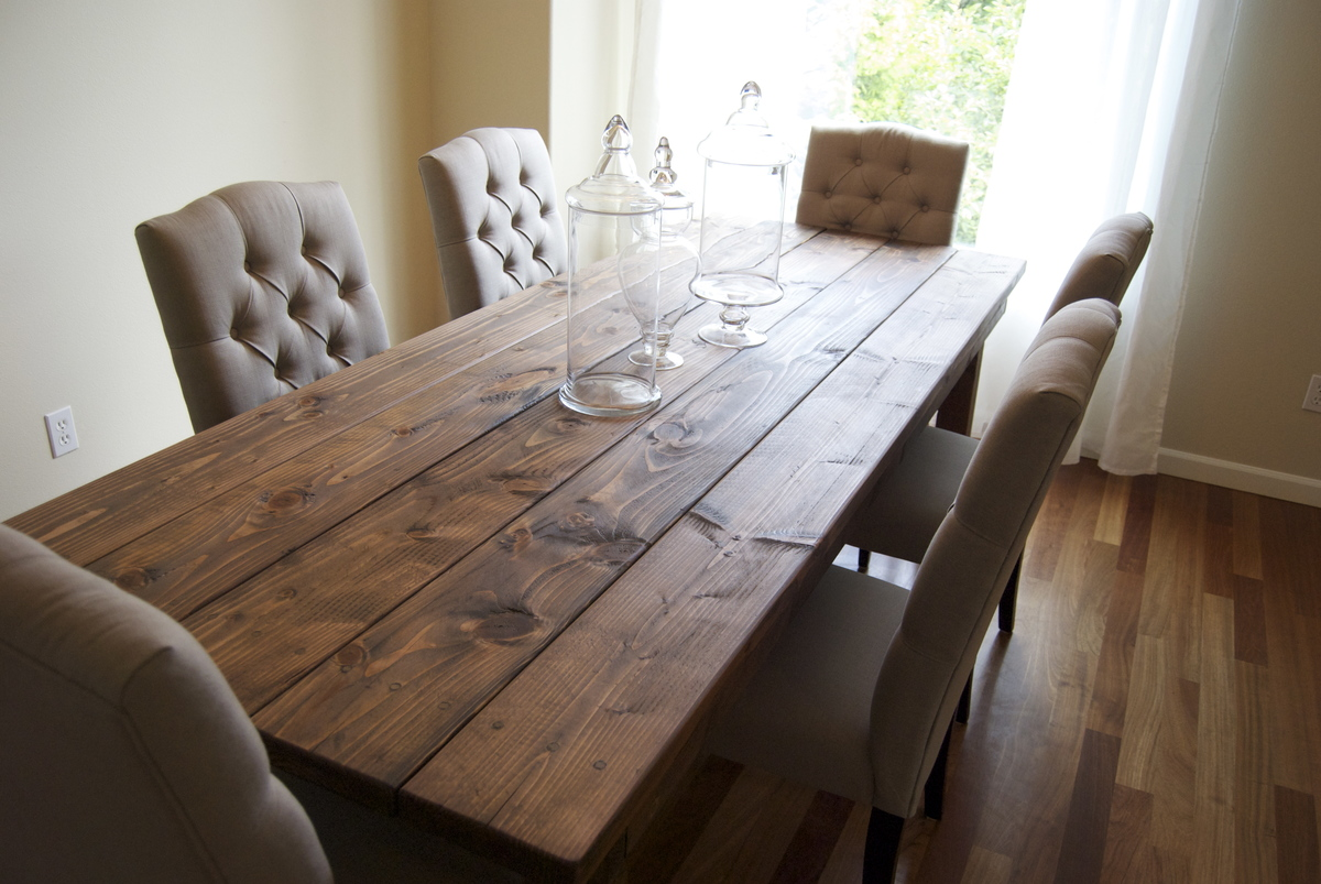 Ana White | Farmhouse Table (Rustic Table) - DIY Projects