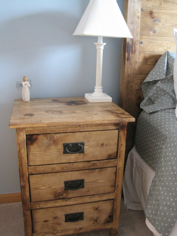 Lovely Ana White | Reclaimed Wood Look Bedside Tables - DIY Projects RU48