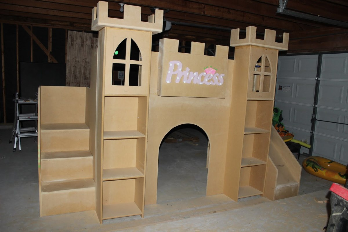 wooden diy castle bed pdf plans