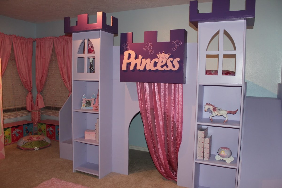 Princess Castle Bed | Do It Yourself Home Projects from Ana White