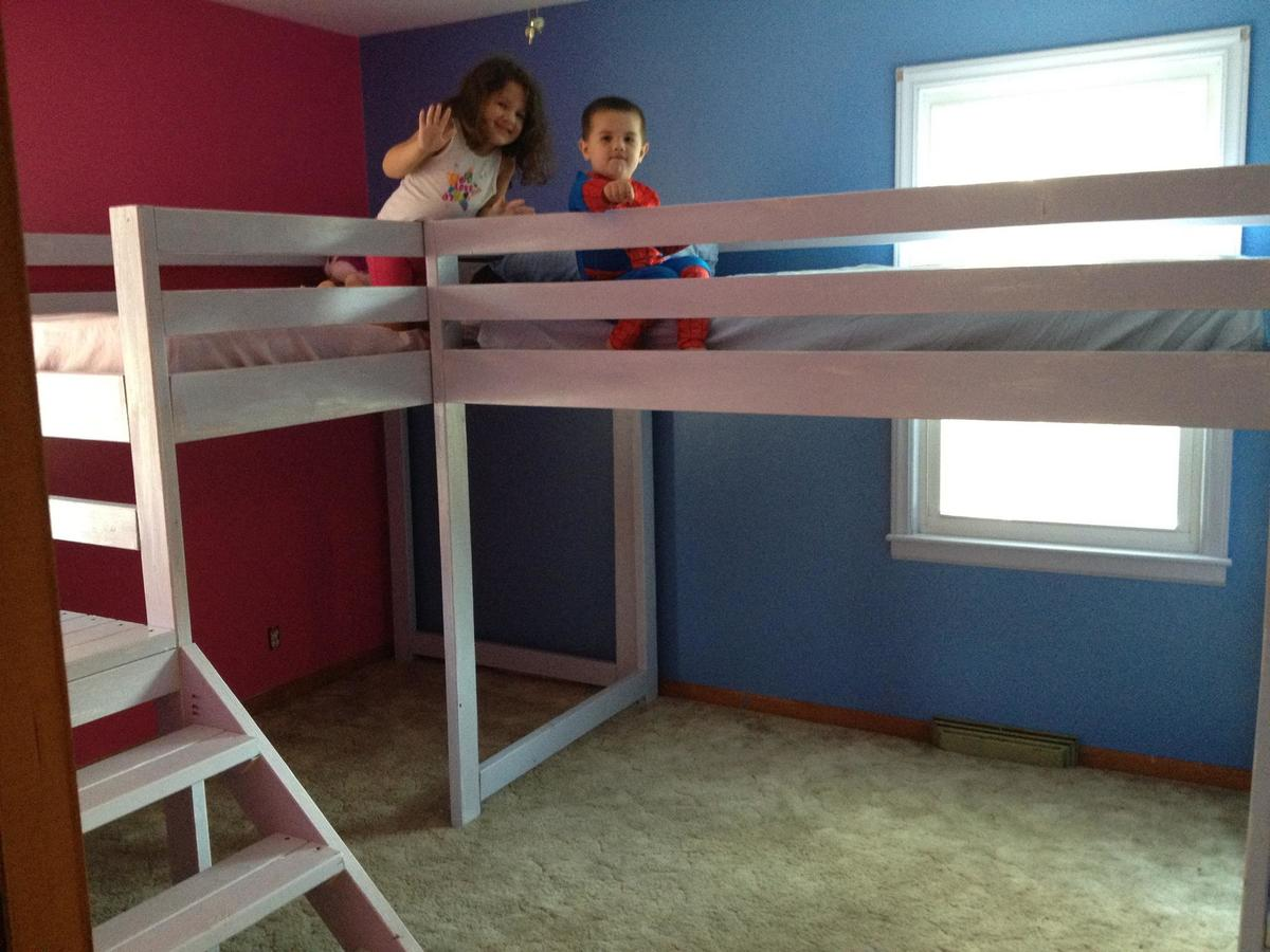 Ana White Twin Loft Beds With Platform Diy Projects