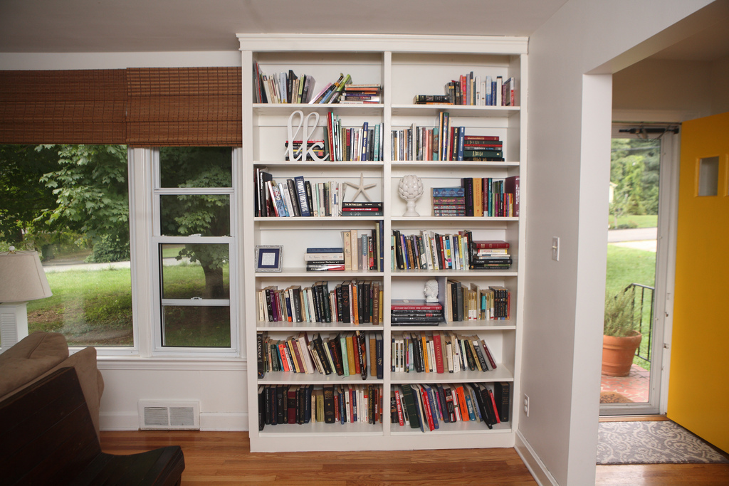 these built in bookshelves were my first project and were loosely