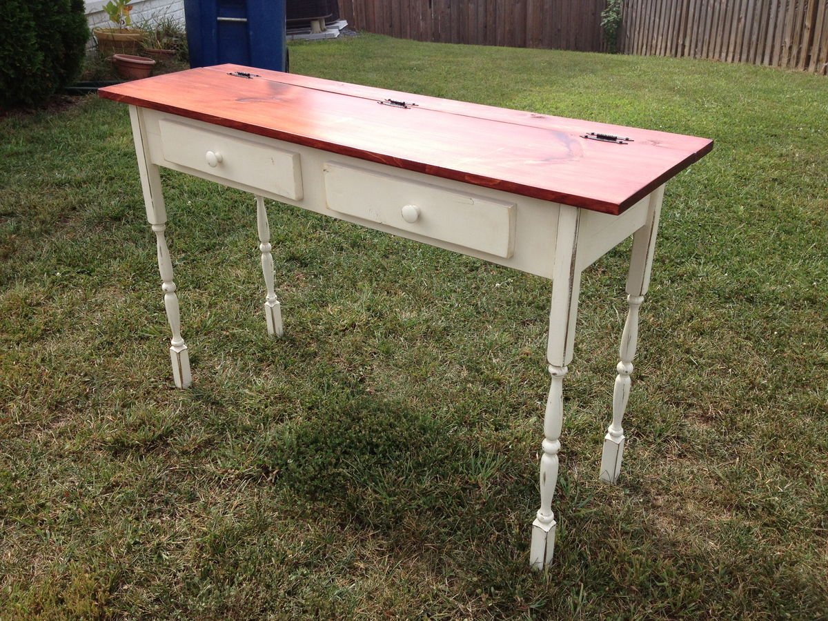 Ana white flip top console table diy projects additional photos geotapseo Image collections