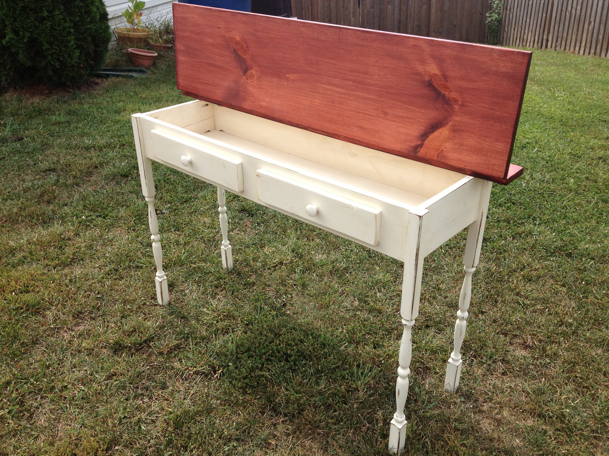 Ana white flip top console table diy projects flip top console table geotapseo Image collections