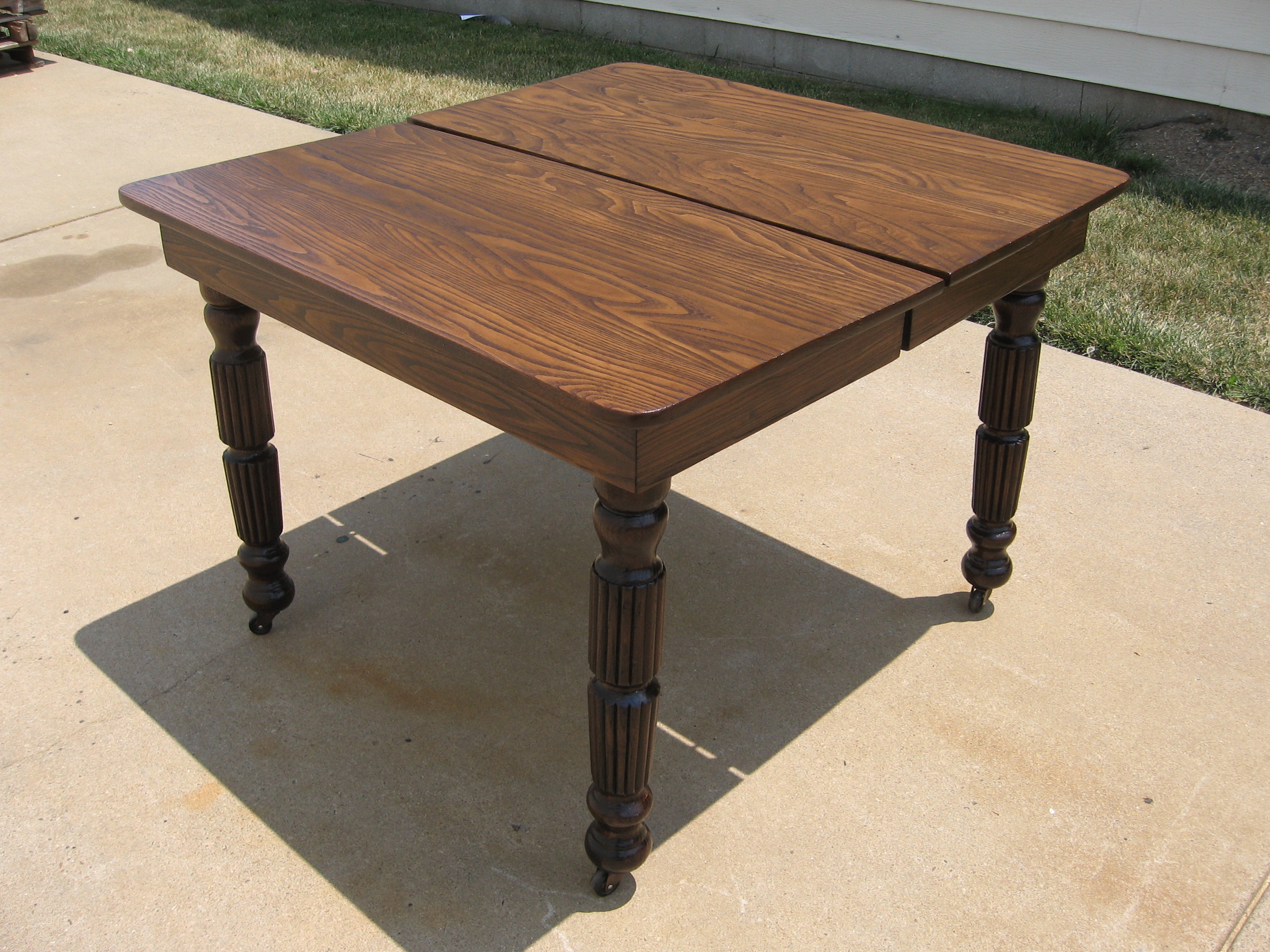 Refinished Oak Dining Table