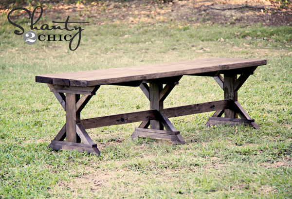 Farmhouse Bench Turquoise Farmhouse Bench Old Bench Rustic 62