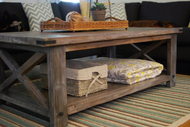 Ana white rustic x coffee table diy projects for How to build a rustic coffee table