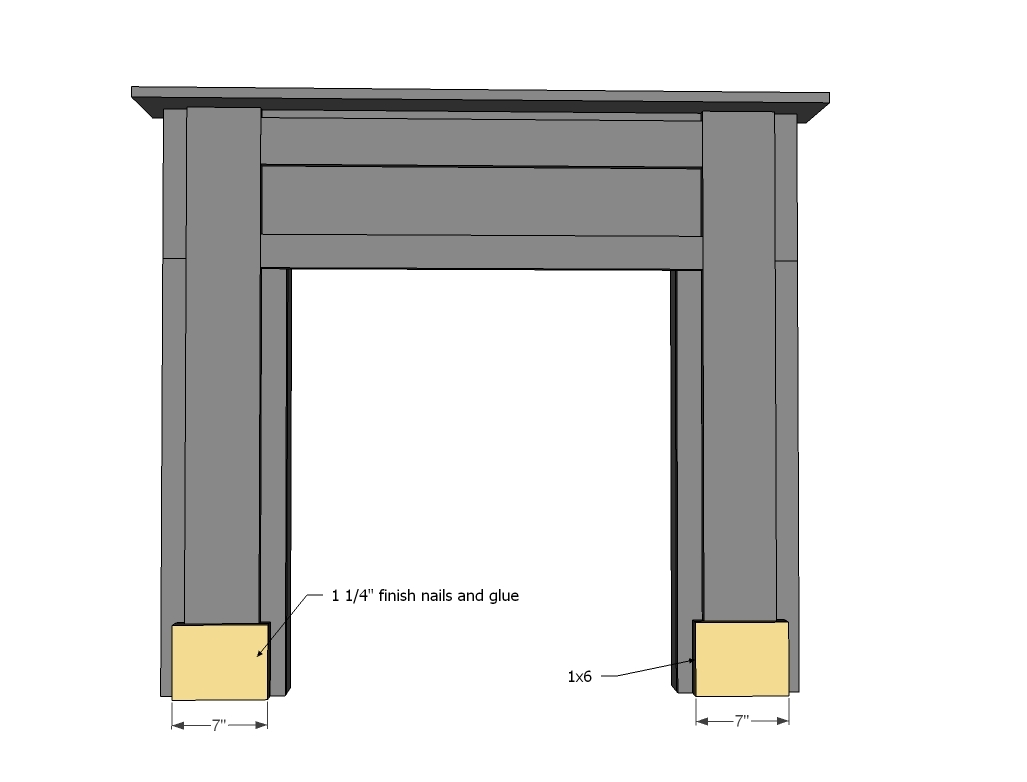 Build A Fake Fireplace Ana White Mimis Faux Mantle Diy Projects