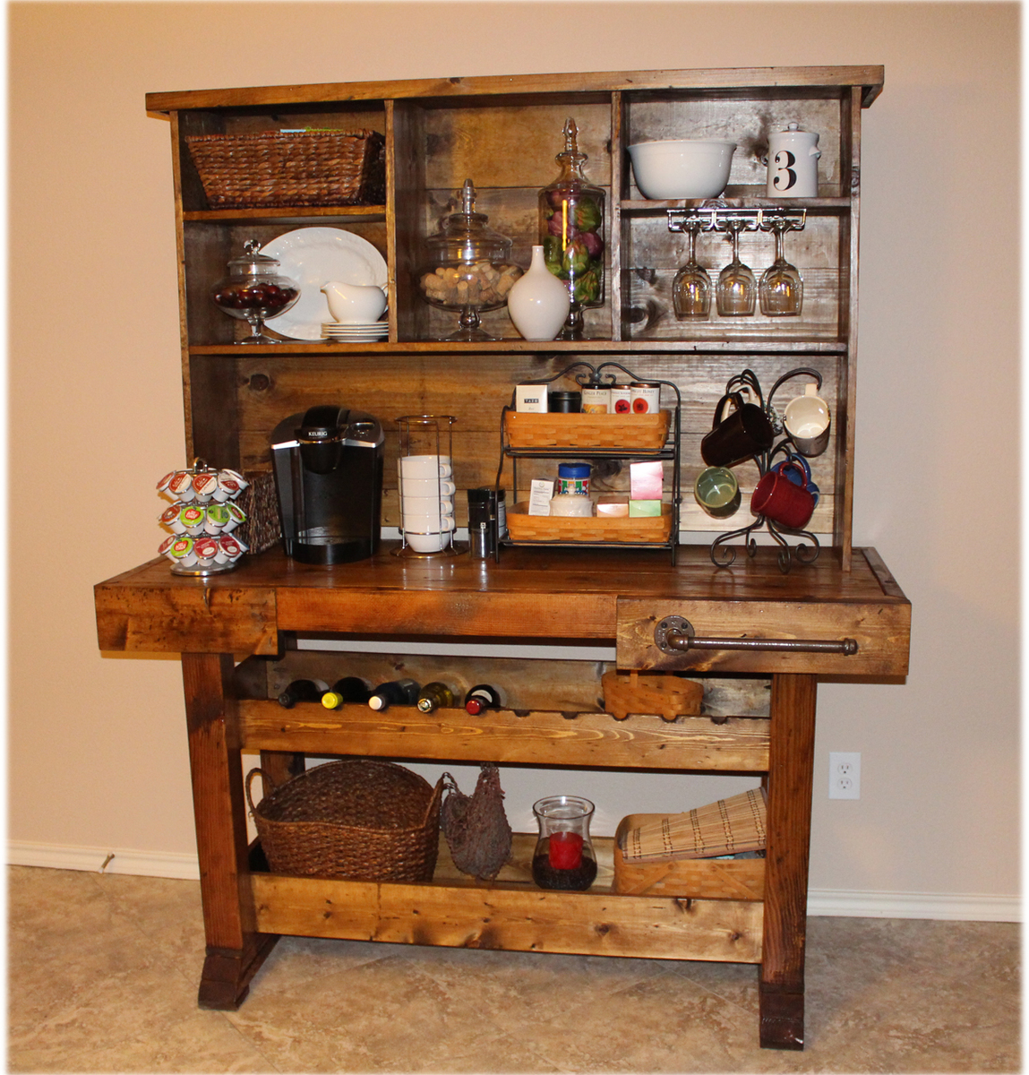 Do It Yourself Garage Workbench Plans: Workbench Console And Hutch - DIY Projects