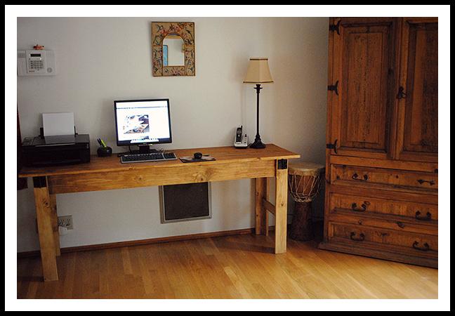 Narrow Farmhouse Table Computer Desk