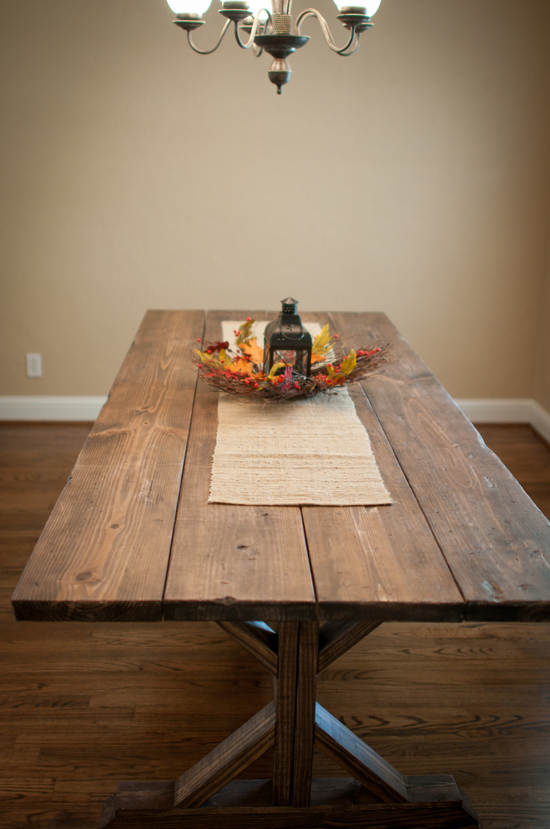 Ana white farmhouse x table diy projects - Ana white kitchen table ...