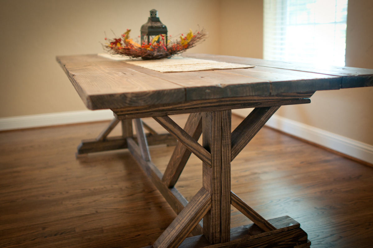 Ana white farmhouse x table diy projects for 10 by 10 table