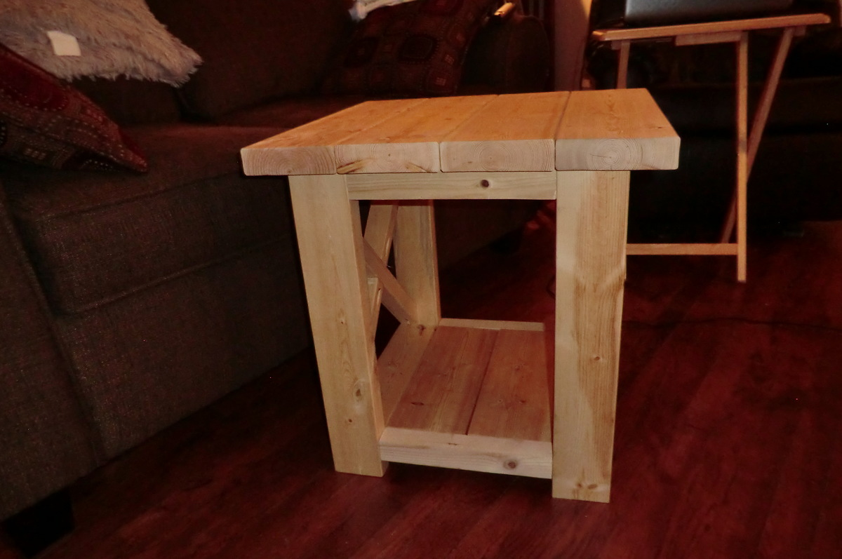 ana white  smaller rustic x end table  diy projects - smaller rustic x end table