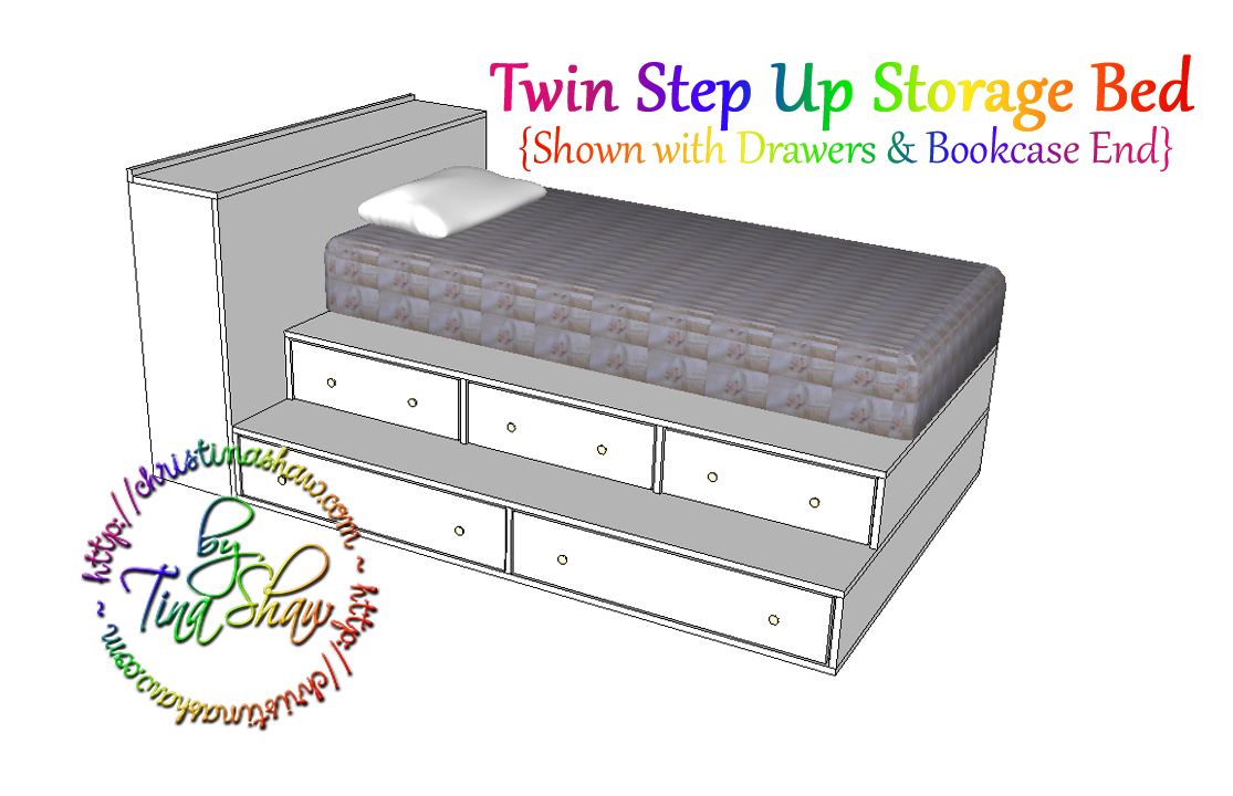 Twin Step Up Storage Bed Ana White