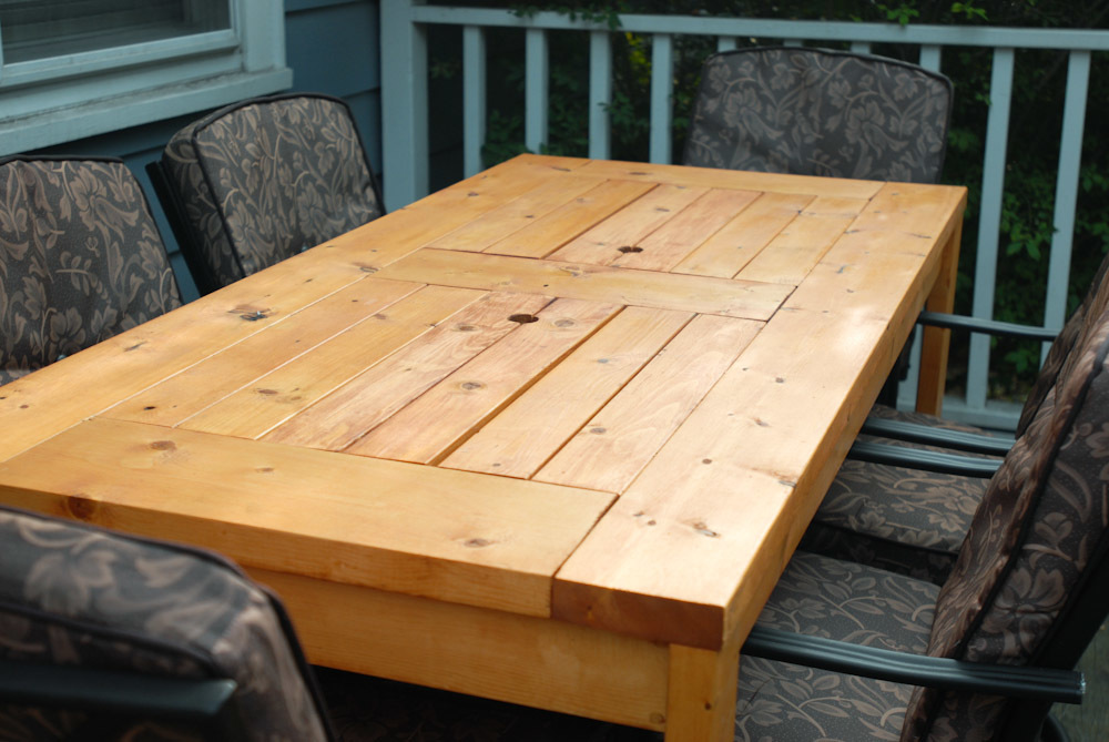 Patio Table With Built In Beer/Wine Coolers With Lids Covered