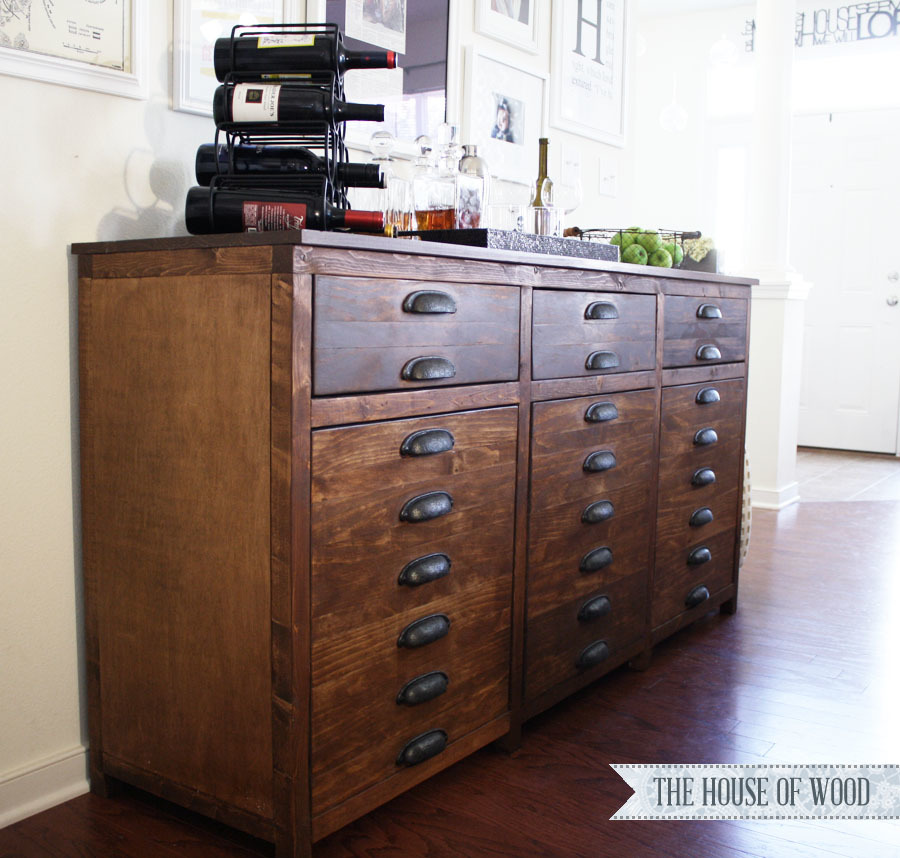 Ana white printers triple console cabinet diy projects - Restoration hardware cabinets ...