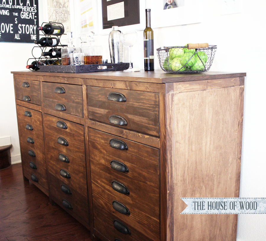 Restoration Hardware Kitchen Cabinets: Printers Triple Console Cabinet - DIY Projects