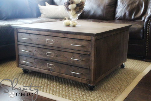 Ana White 6 Drawer Library Coffee Table Diy Projects