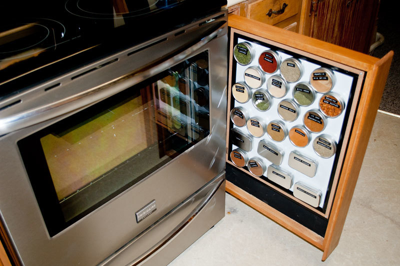 Magnetic Spice Rack Drawers!