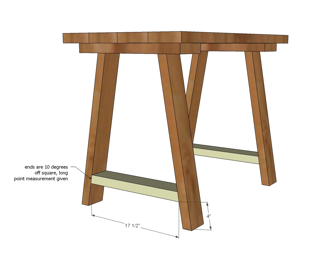 Uncategorized Free Wood Desk Plans ana white simple small trestle desk diy projects free plans