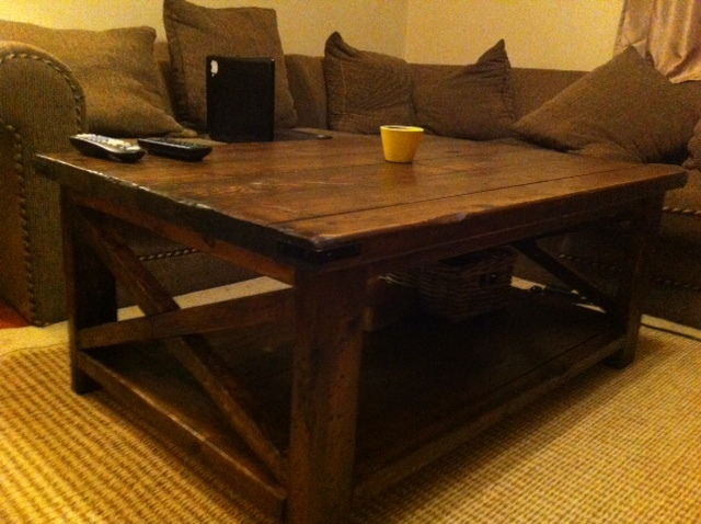 Rustic X Coffee Table   Rustic Living Room Tables