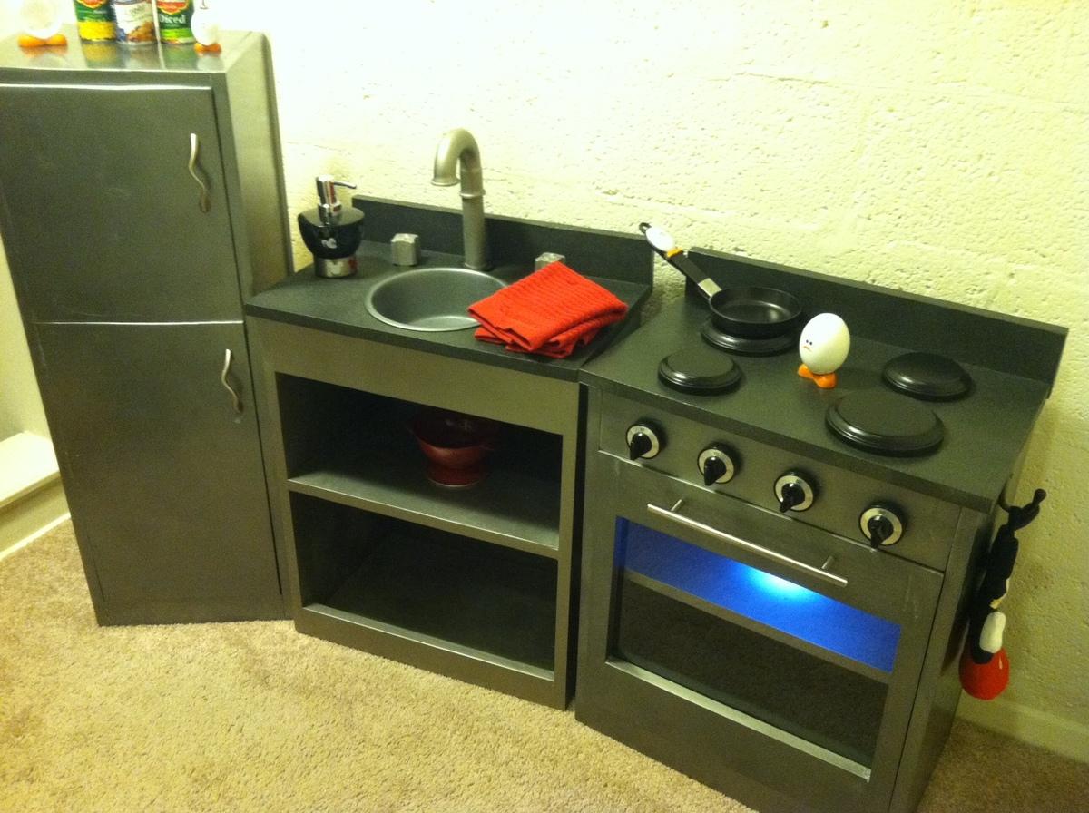 Simple Play Kitchen With Fridge Ana White
