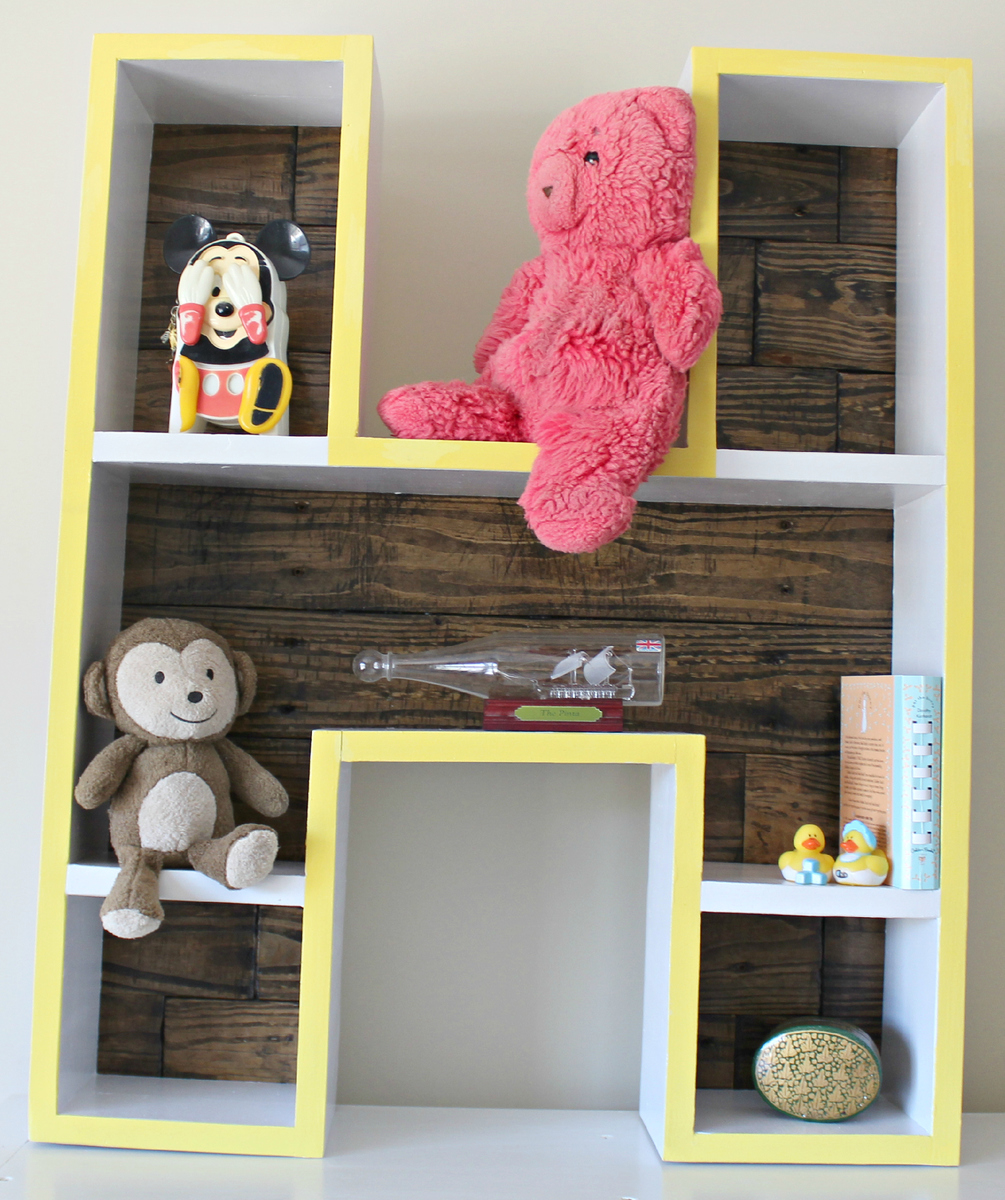 Letter H Shelf - DIY Projects