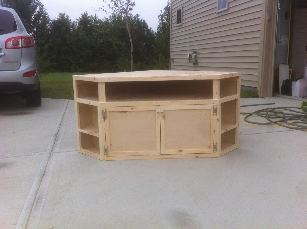 Floating Corner Entertainment Stand
