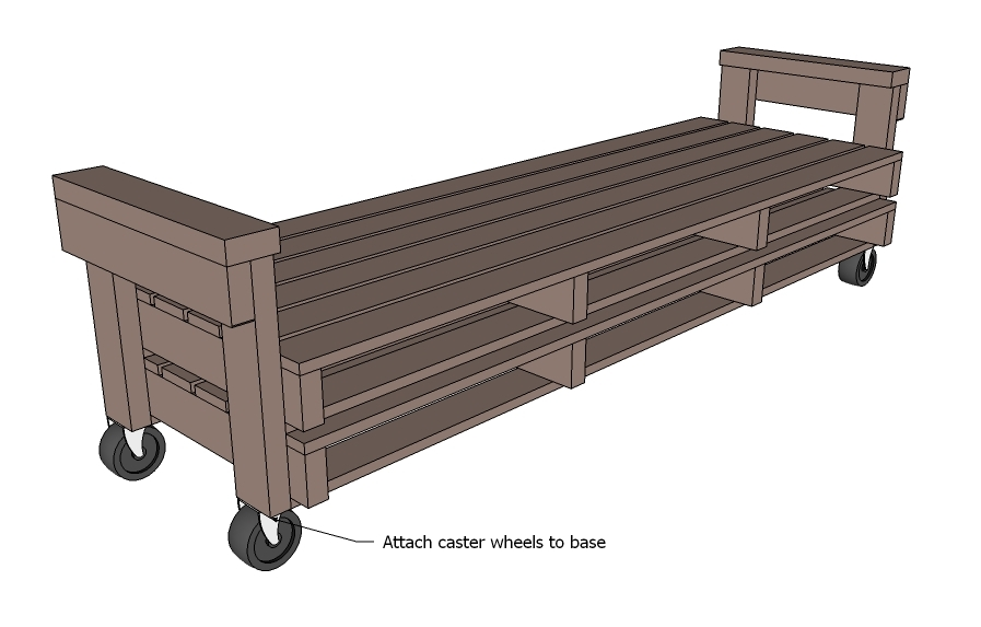 Amazing Industrial platform bed free and easy project plans from https sawdustgirl