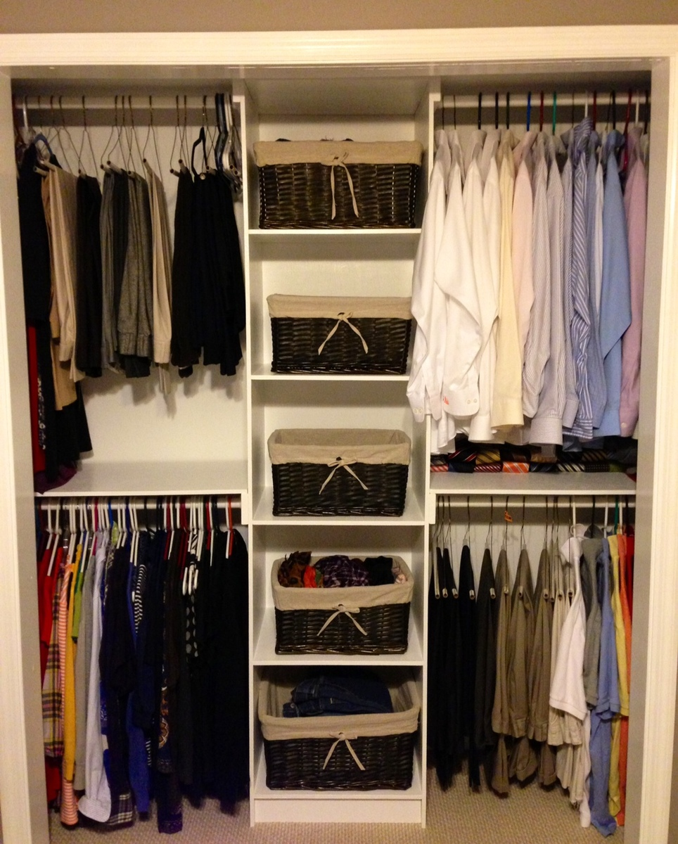 Ana white simple closet organizer diy projects Pictures of closet organizers