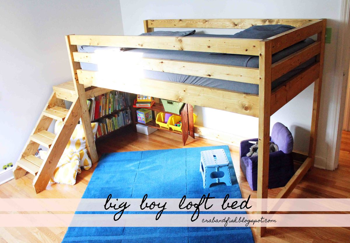 Cool toddler beds for boys - Big Boy Toddler Loft Bed