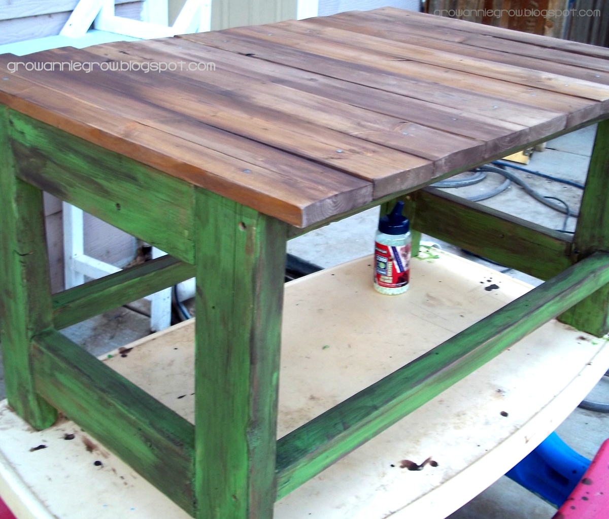 Rustic Reclaimed & Scrap Wood End Table