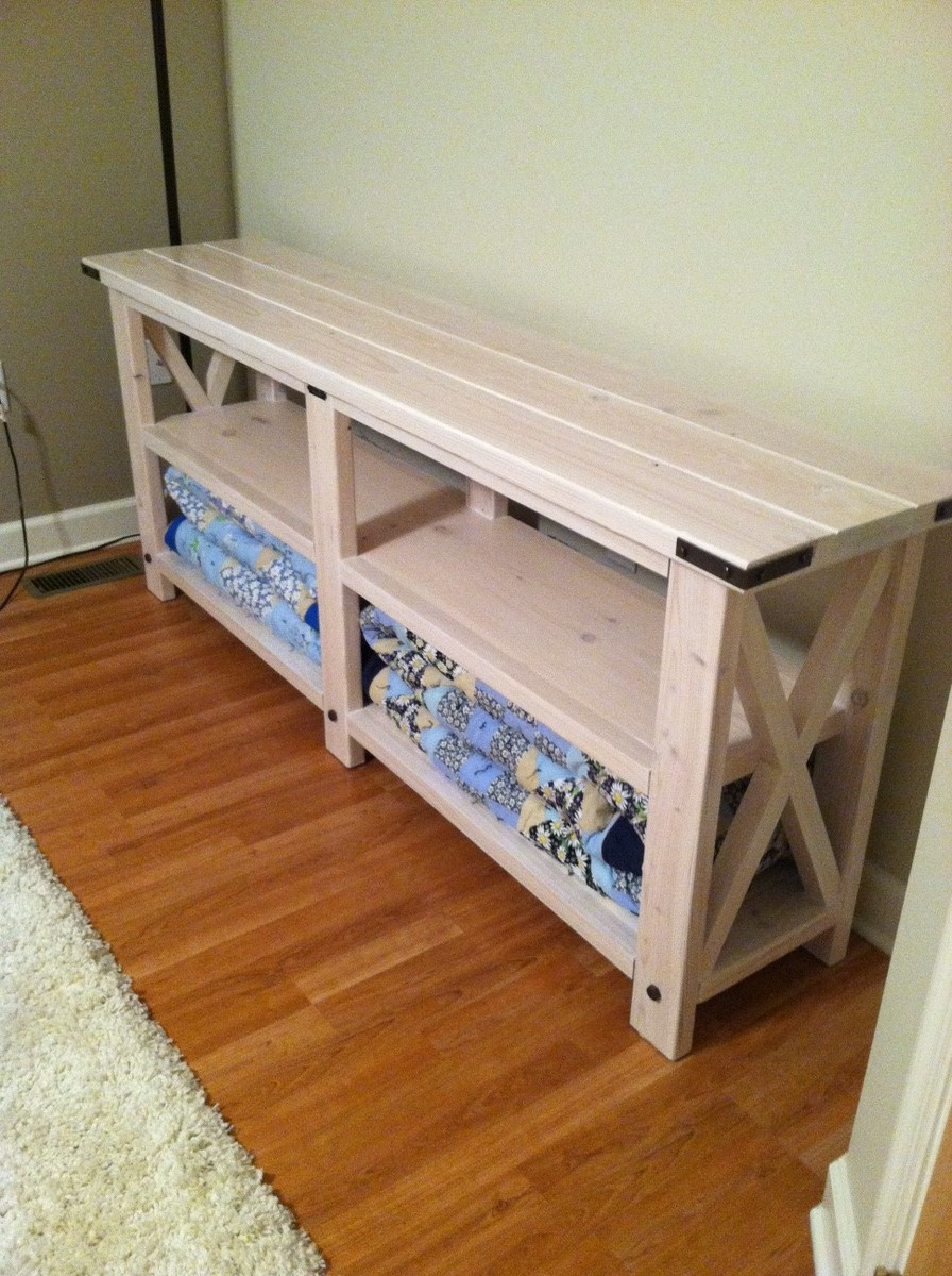 Ana White My Rustic Quot X Quot Console Table Diy Projects