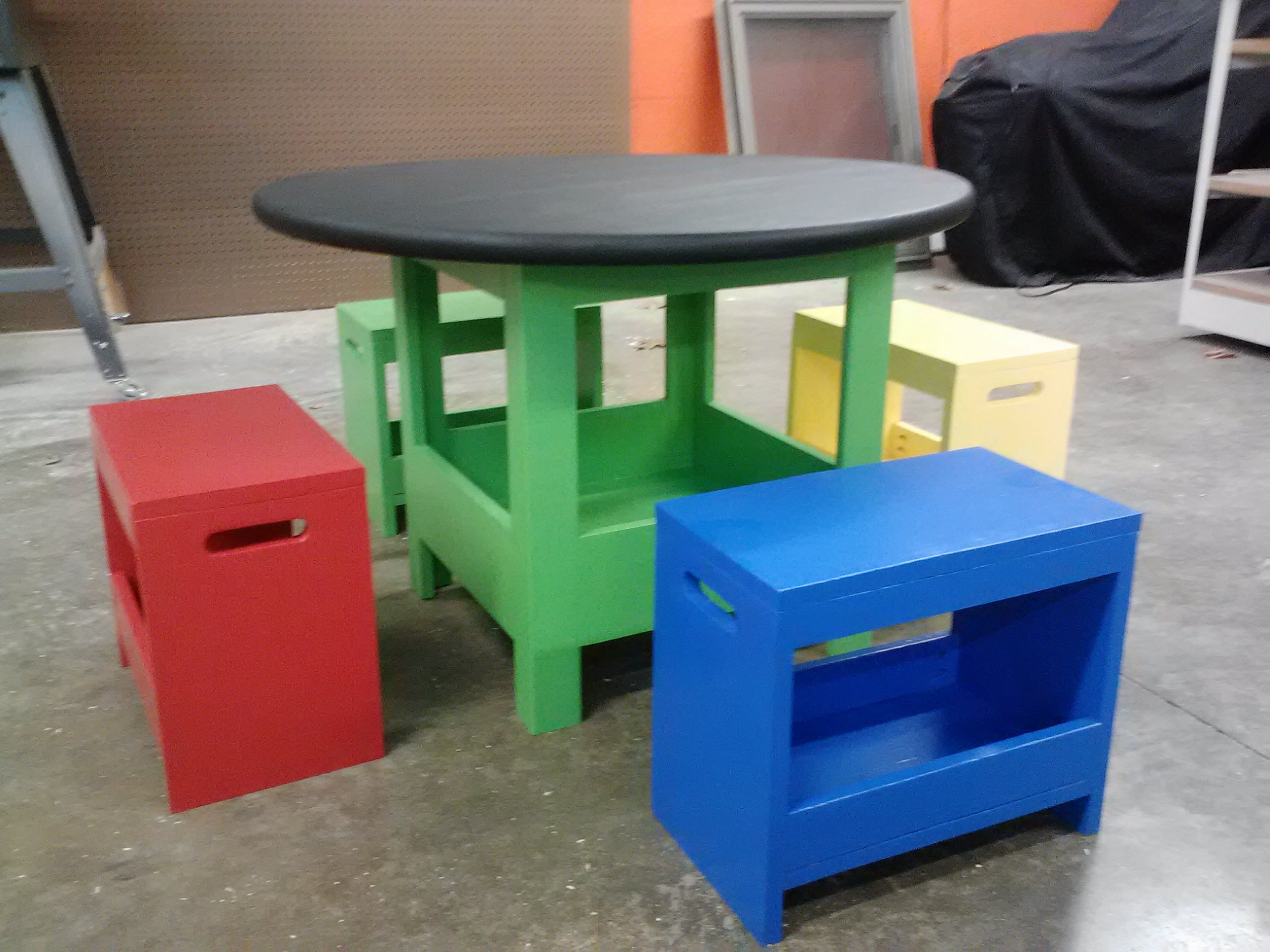 Ana White Kid S Storage Table And Benches Diy Projects