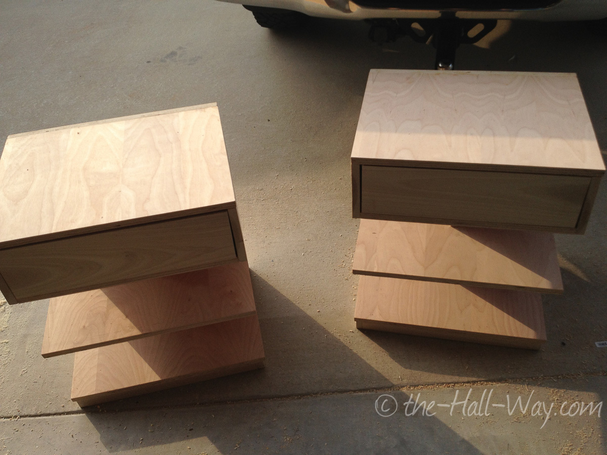 ana white   argie bedside table (nightstand) - diy projects Floating Bedside Table Diy
