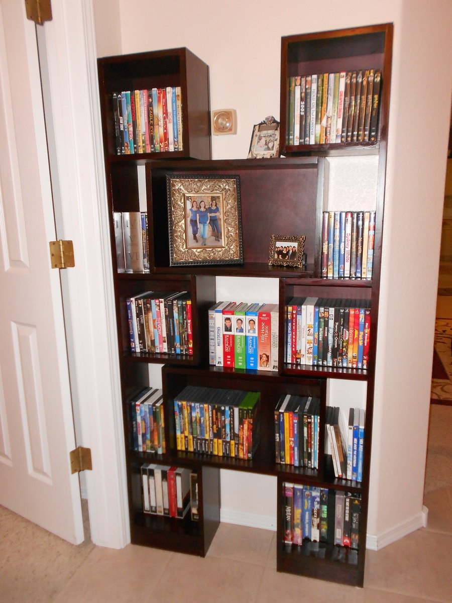 Ana White Fits Around My Thermostat Downsized Puzzle Bookcase For Dvd Storage Diy Projects