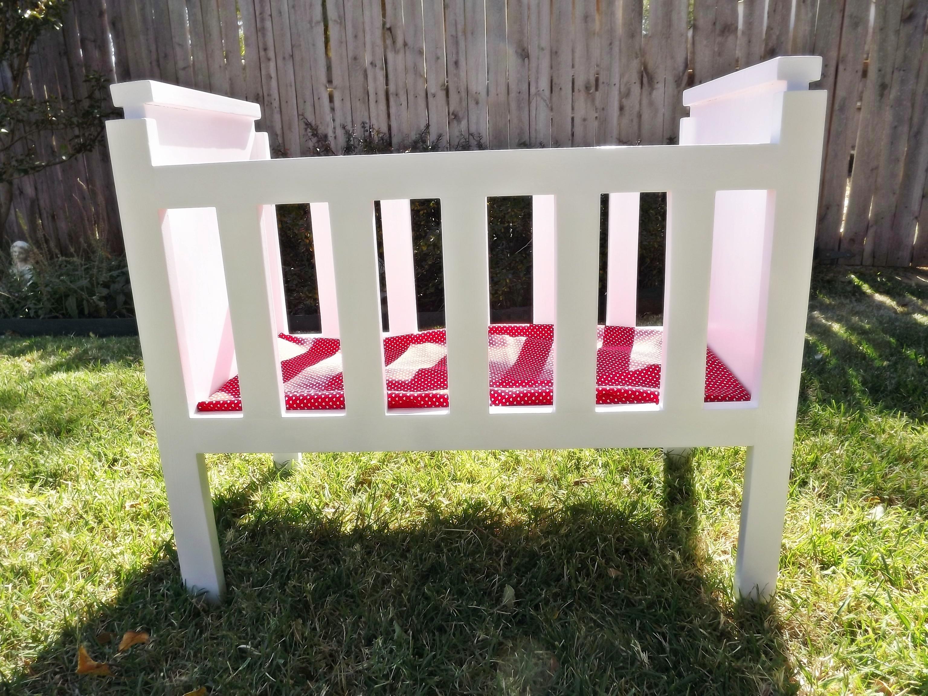 Fancy Doll Crib, Modified   Ana White