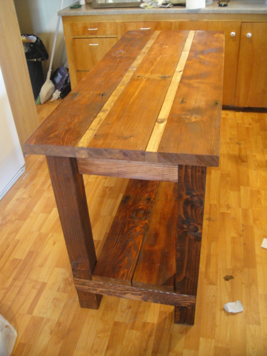 Kitchen Island From Reclaimed Wood