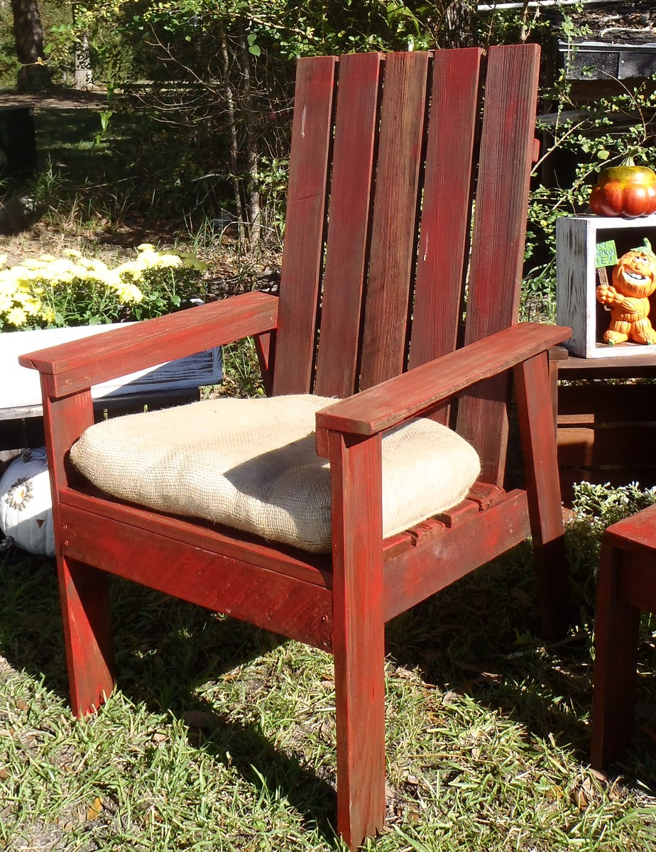 Simple Outdoor Number Activities For Kids: SIMPLE OUTDOOR CHAIR FROM BOOK PLAN - DIY Projects