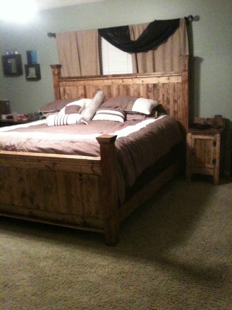 Pdf diy farmhouse bed plans king download expandable for Farmhouse bed plans
