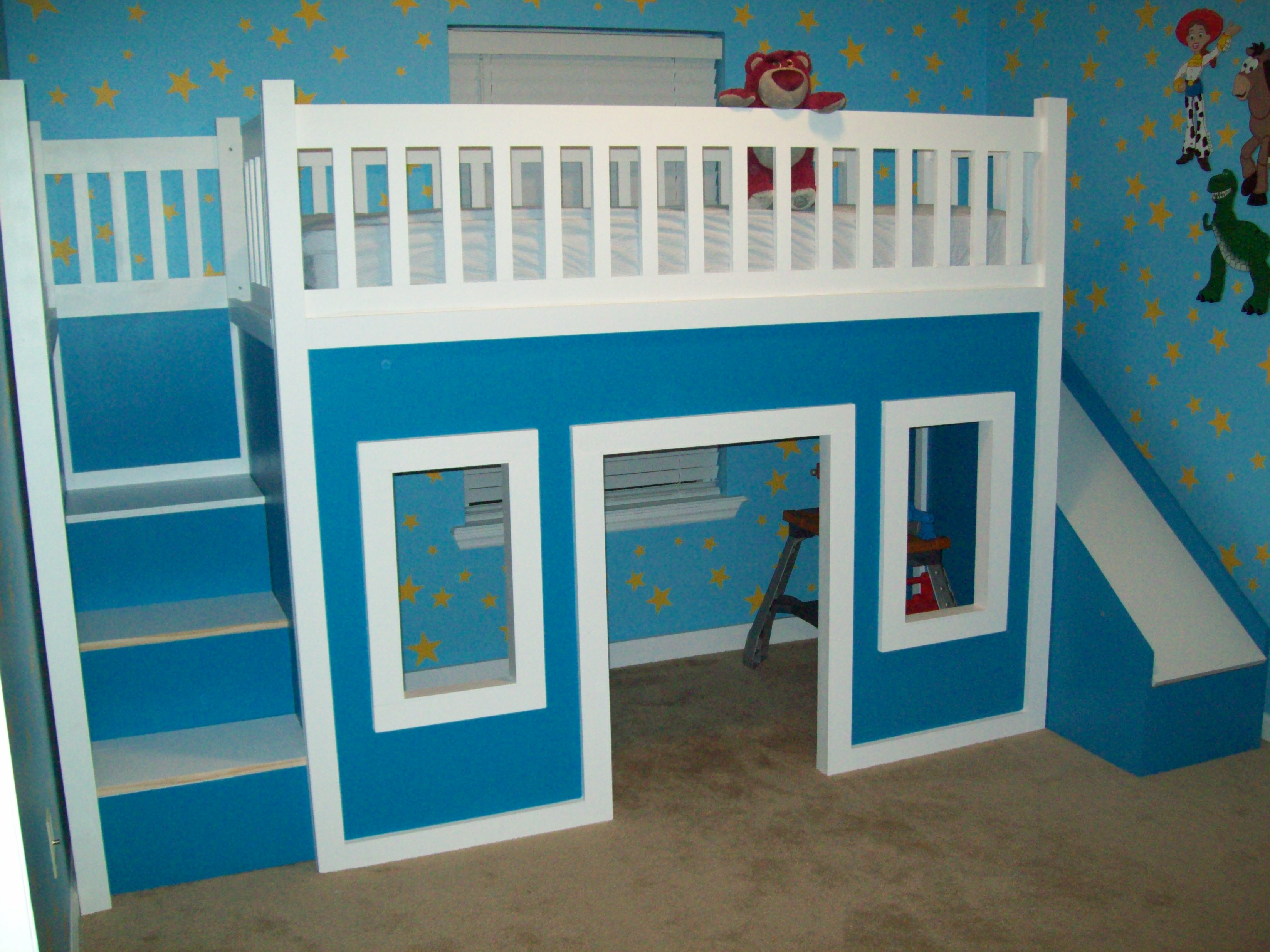 Kids loft bed with slide plans - Kids Loft Bed With Slide Plans 0