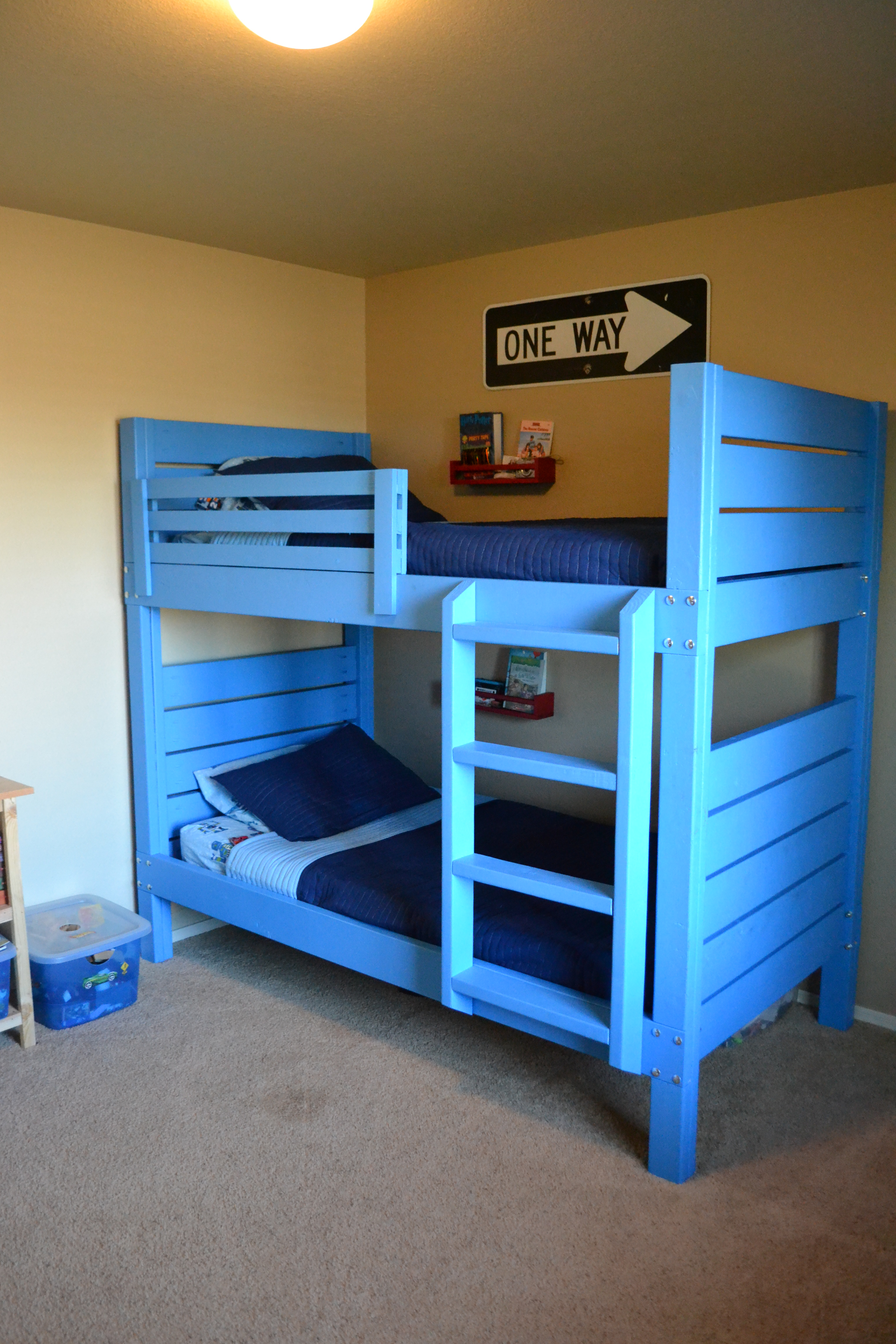 Ana White Side Street Bunk Beds With Modified Ladder