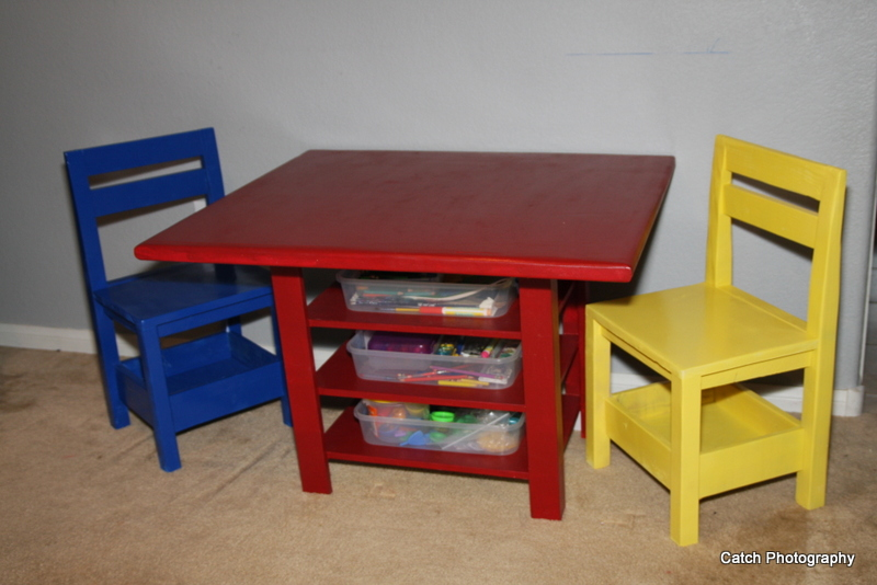Kids Storage Table With Extra