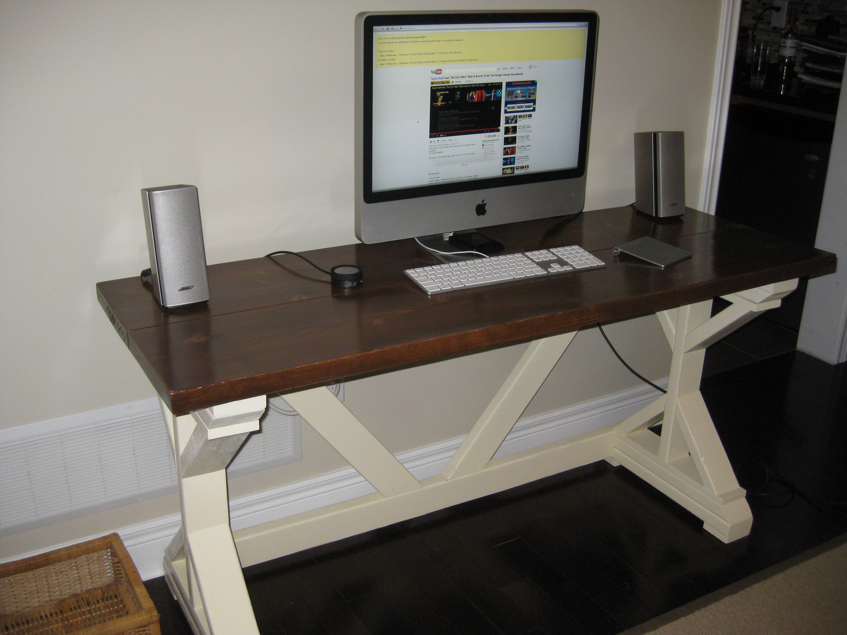fancy computer desks white fancy x desk diy projects